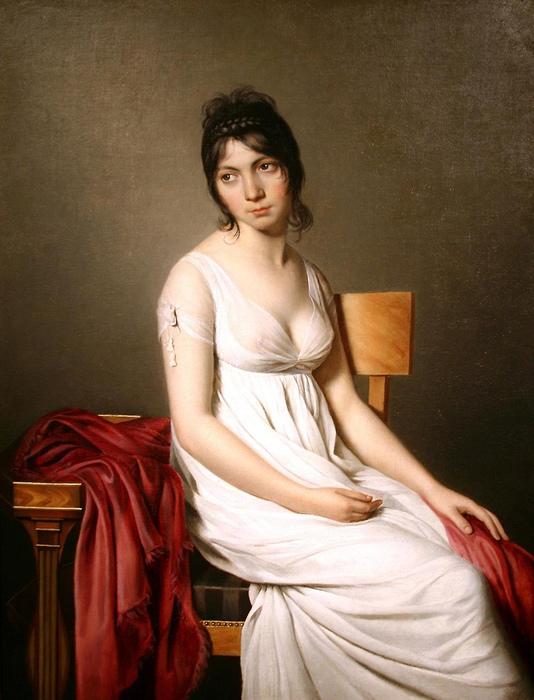 Женский портрет кисти Жака-Луи Давида.