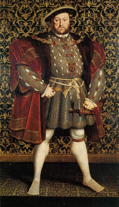 Генрих VIII. Портрет Ганса Гольбейна Младшего.