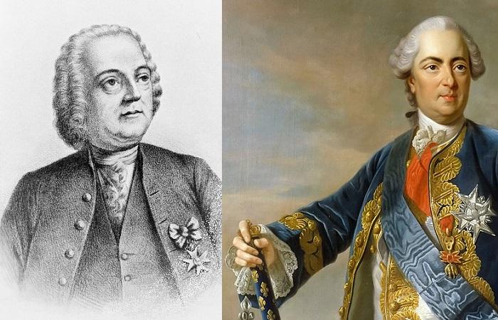 Жак Давиель и его самый известный пациент, Людовик XV.