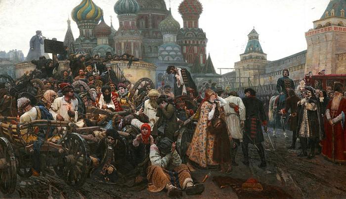 Стрелецкая казнь в представлении художника Василия Сурикова.
