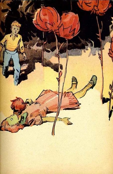 Дети, оставшиеся на космическом корабле дежурными, отлучаются и становятся жертвами цветов-вампиров.