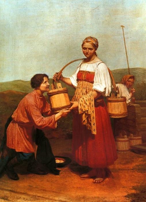 Правила флирта разнились в России от области к области. Картина Алексея Венецианова.
