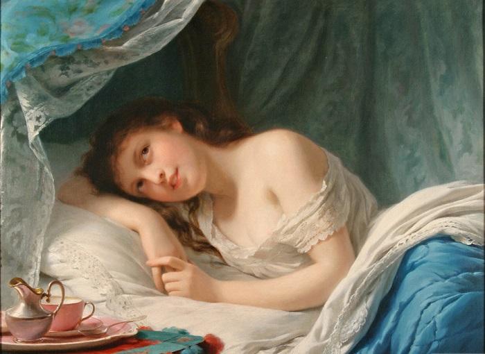 Количество нижнего белья определяло, насколько человек кажется чистоплотным. Картина Фрица Цубер-Бюлера.