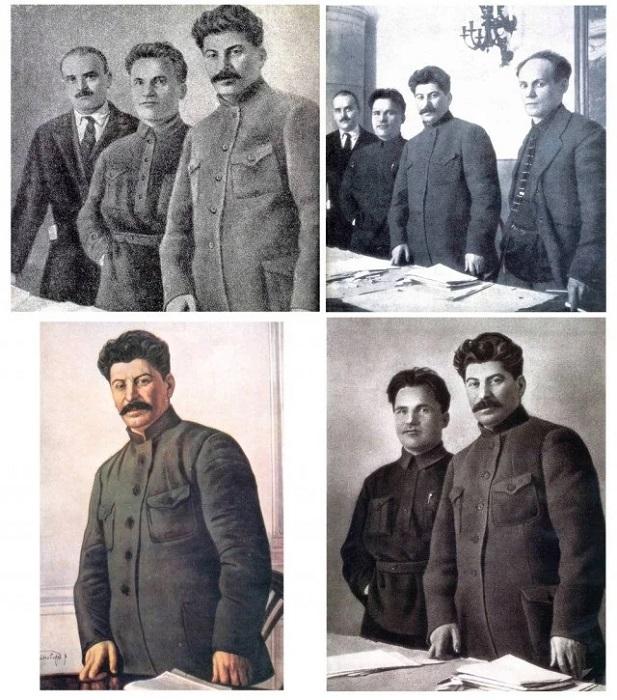 Метаморфозы группового портрета со Сталиным.