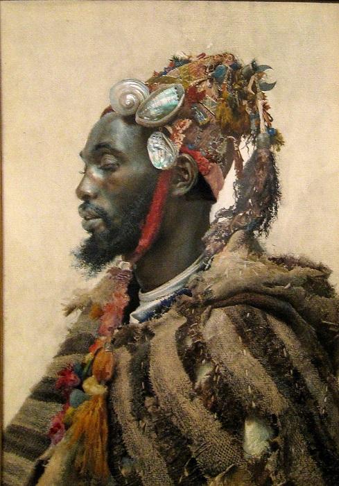 Портрет дервиша из Марокко. Картина Хосе Тапиро-и-Баро.