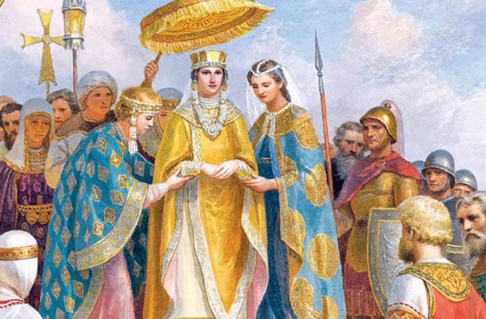 Царевна Анна из Македонской династии оказывала сильное влияние на мужа, князя Киевского Владимира.