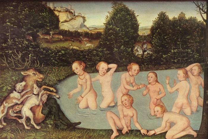 В Европе летнее купание в реке или озере всегда было популярной забавой, как бы ни смотрели на это священники и врачи. Картина Лукаса Кранаха-старшего.