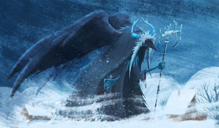 Улу тойон мог являться в облике ворона.