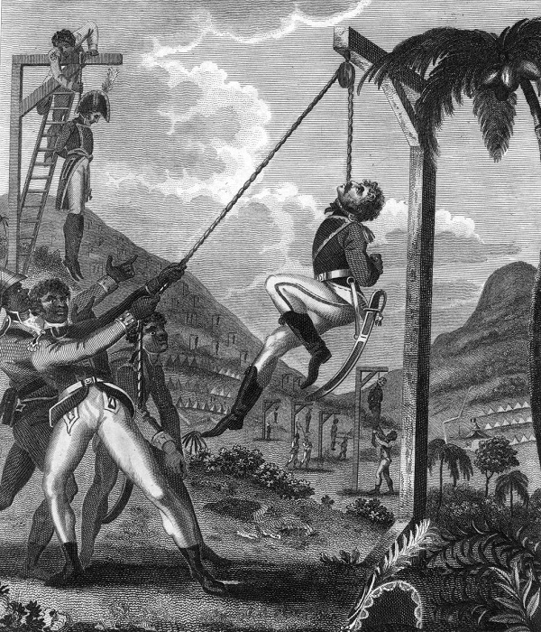 В начале восставшие рабы и свободные мулаты на Гаити убивали только представителей власти.