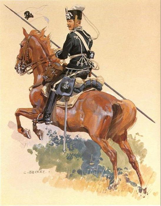 Прусский гусар времён войны с Наполеоном.
