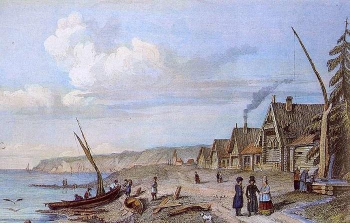 Деревня поморов.