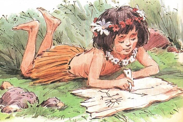 Девочка Тэффи в сказке Киплинга писала первое письмо на свете.