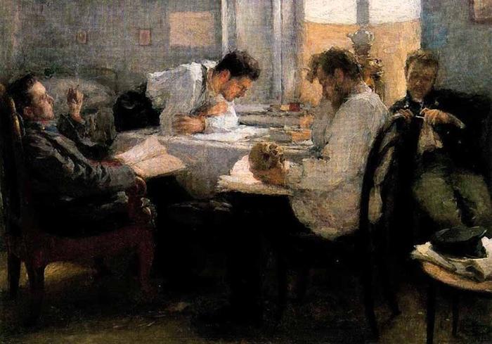 Создавать семью предполагалось с товарищами, единомышленниками, а не объектами страсти. Картина Леонида Пастернака.
