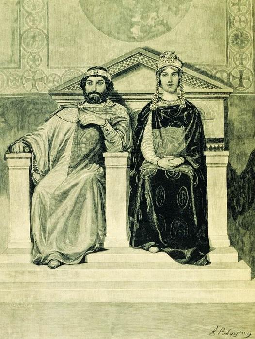 Слава Владимира относительно его поступков с женщинами была так хороша, что царевна Анна, которую он потребовал себе как трофей, напав на Византию, рыдала, собираясь за него замуж, и утверждала, что даже смерть лучше. Но при ней Владимир остепенился.