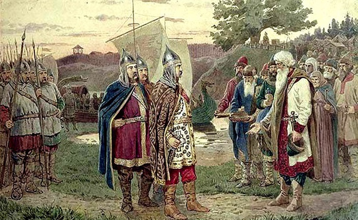 Призыв Рюрика в Новгород.