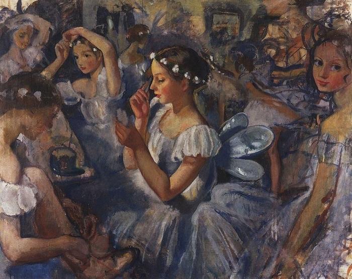 Балетная школа глазами художницы Зинаиды Серебряковой, 1924 год.