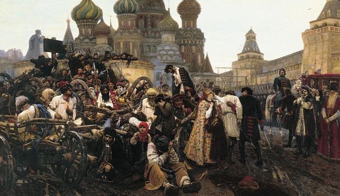 Утро стрелецкой казни. Картина Василия Ивановича Сурикова.