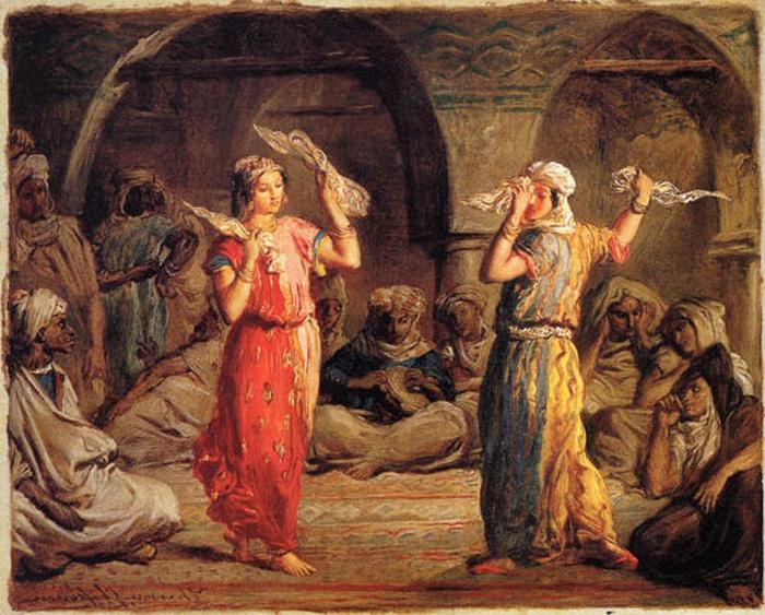 Танец с платками. Картина Теодора Шасрио.