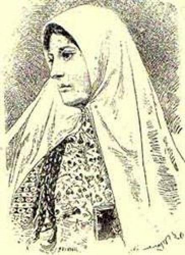 Условный портрет проповедницы по прозвищу Куррат Уль-Айн (религиозное имя Тахире).