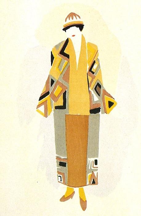 Модный эскиз Сони Делоне.
