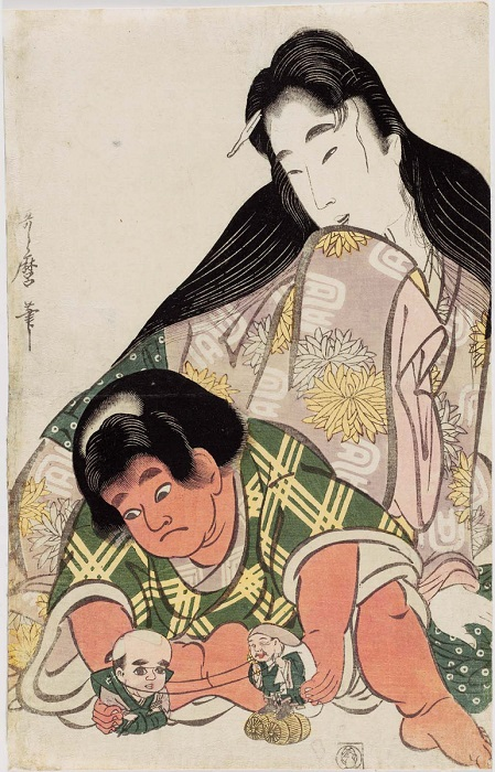 Ямауба присматривает за будущим героем Кинтаро.