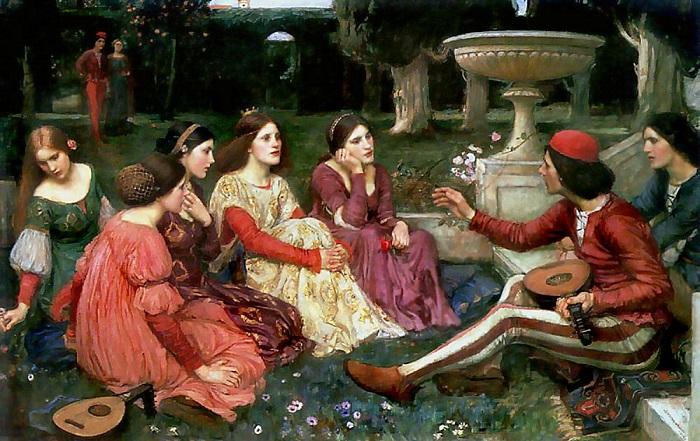 Самая знаменитая картина по Декамерону была нарисована прерафаэлитом Уотерхаусом.