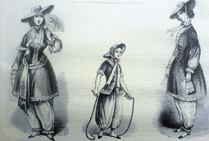 Предполагалось, что шаровары не идентичны мужским брюкам, но мужчины увидели в них наступление на мужественность.