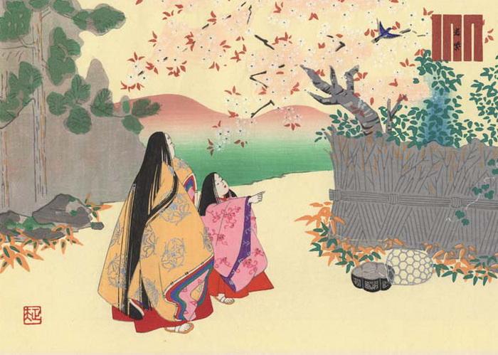 В средневековой Японии был культ природы и естественной красоты.
