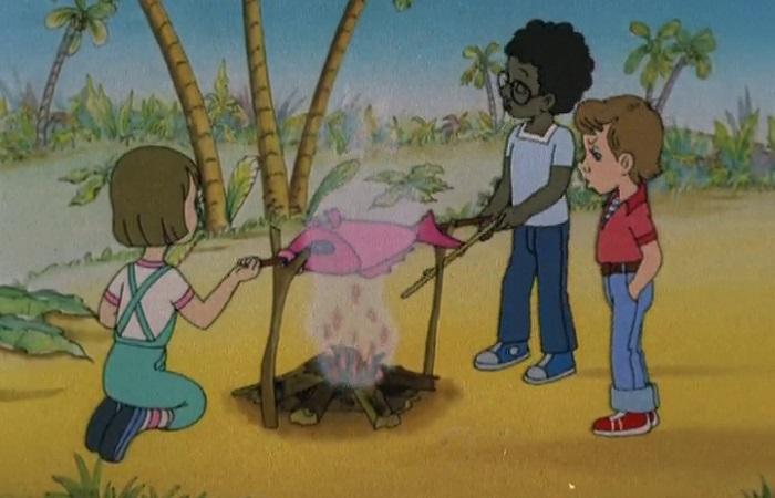 В восьмидесятых по сказке о мальчике с волшебным платком сняли мультфильм.