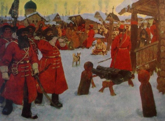 Очень долго любое преступление рассматривали и пресекали стрельцы - военнослужащие допетровских времён
