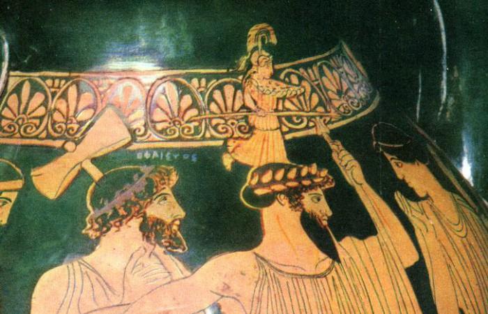 Рождение Афины. Рисунок на вазе