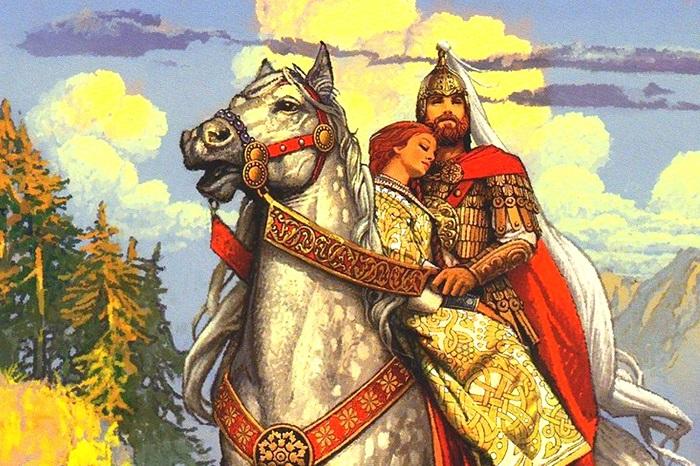 Имя Людмила до двадцатого века было исключительно чешским, Руслан - татарским. В то, что они древнерусские, всех заставил поверить талант Пушкина.