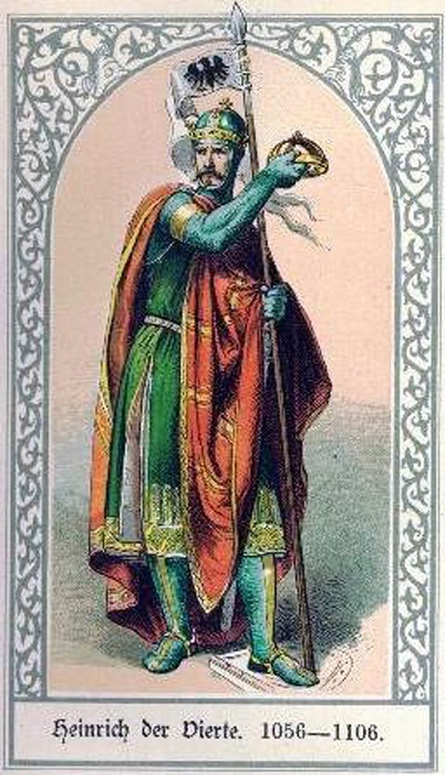 У Генриха IV с церковью не ладилось. Из-за личных особенностей.