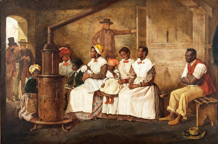 Рабы не были защищены от произвола вообще никак. В Америке не было даже тех законов, которые ограничивали рабовладельцев в античном мире или Древнем Китае. Картина Э.Кроу.
