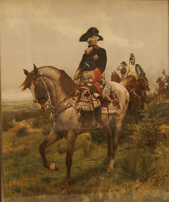 Фридрих всегда сам возглавлял атаки. Художник Денис Дайтон.