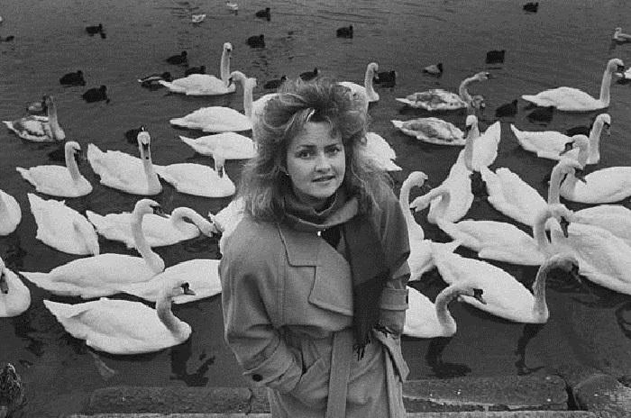 Анна Росмус в восьмидесятых.