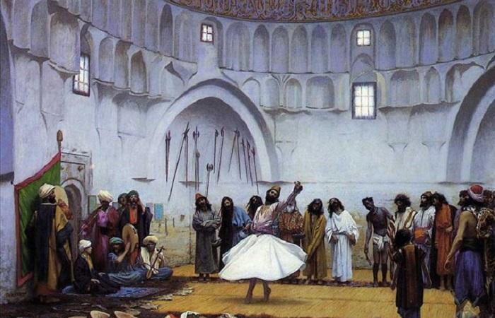 Почему дервиши крутятся, а суфийские поэты воспевают вино и женщин и всё равно считаются аскетами. Картина Жана Леона Жероме.