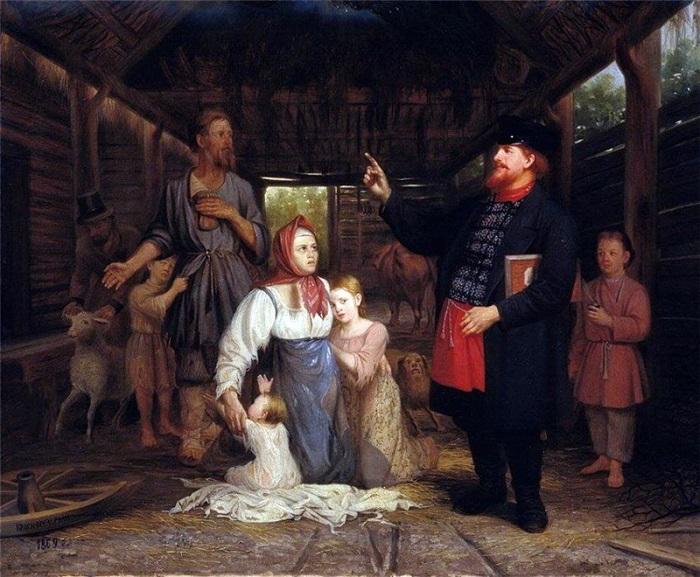 Хамы вовсе не хамили, они должны были всем кланяться и разговаривать почтительно. Картина Александра Красносельского.