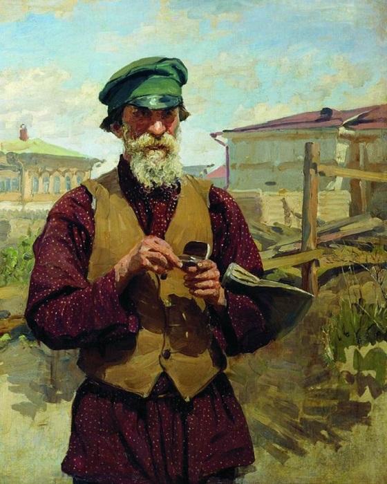 Жилет оказался очень удобен, так что мода на него быстро разошлась по всем слоям общества. Художник Иван Куликов.