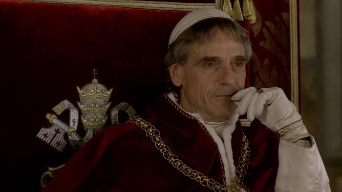 Папа Александр VI в исполнении Джереми Айронса. Сериал *Борджиа*.