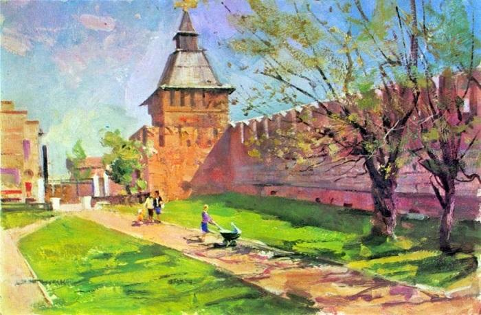 Тульский кремль глазами художника Владимира Руднева.