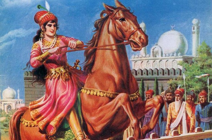 Разия воспитывалась наравне со старшим сыном султана Дели