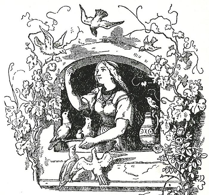 Чтобы скрыть языческую основу сказок, Людвиг Эмиль старательно рисовал на каждой иллюстрации или заметный крестик, или Библию, или другие атрибуты христианства.