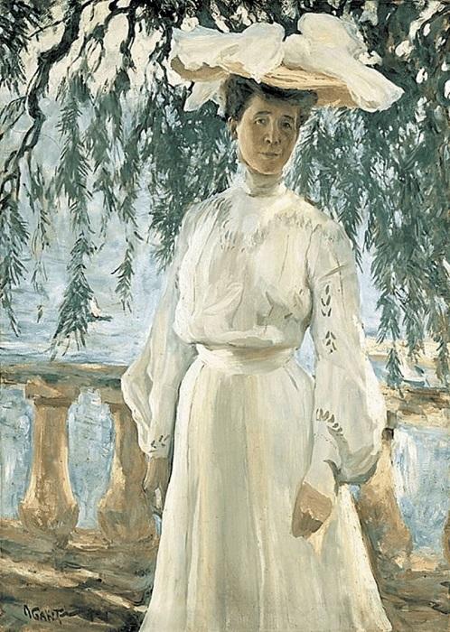 Портрет жены, написанный Львом Бакстом.