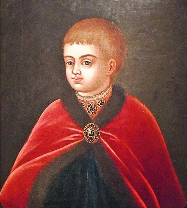 Портрет маленького царевича Петра.