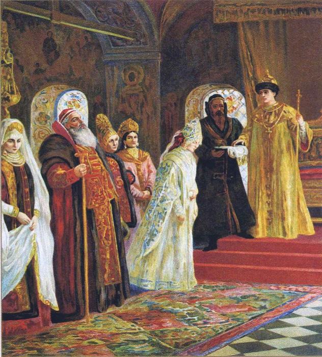 Константин Маковский. Выбор невесты царём Алексеем Михайловичем.