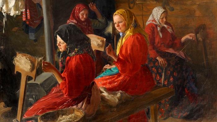 У этих девочек уроки не в школе. Картина Ивана Куликова.