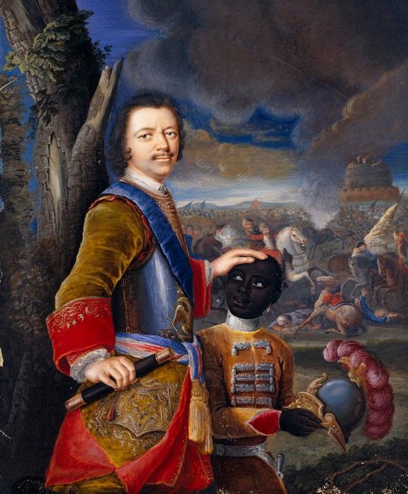Вооружённый мальчик возле Петра мог бы быть принцем Ибрагимом.