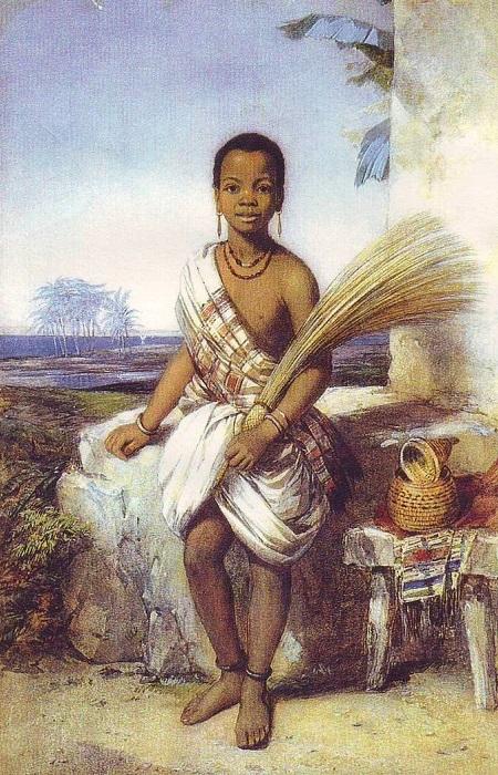 Портрет омобы Айны кисти Октавиуса Оукли.