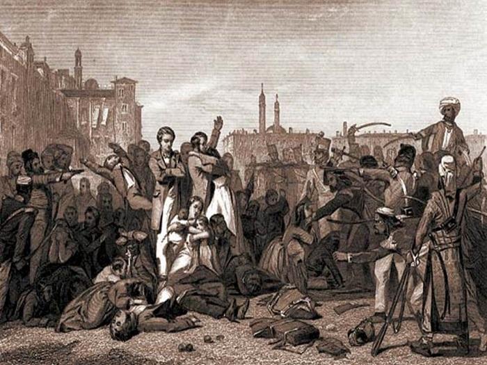 Повстанцы неоднократно убивали англичан (включая женщин и детей), пообещав сначала, что пропустят их беспрепятственно.